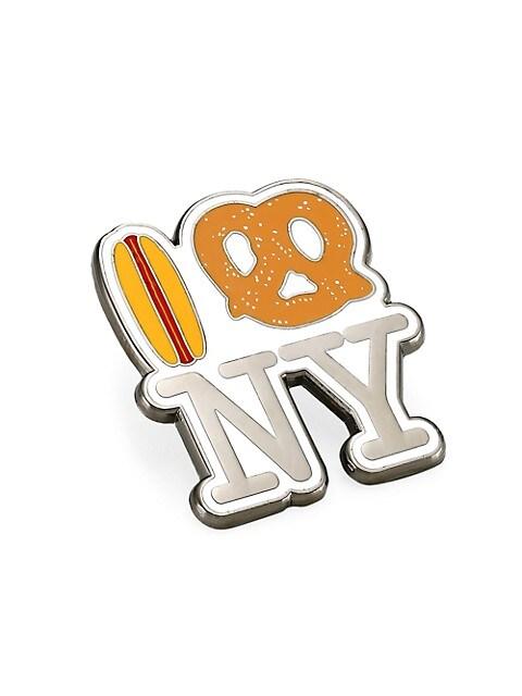 Hot Dog Pretzel NY Pin
