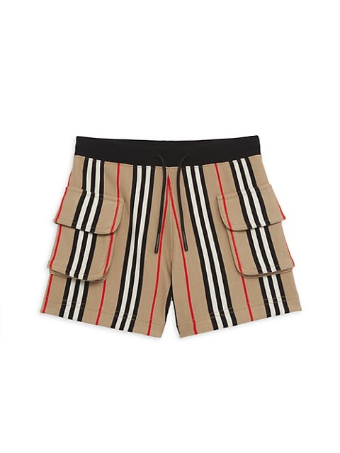 Little Girl's & Girl's Nala Stripe Cargo Shorts