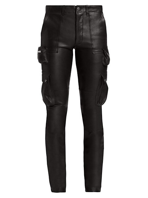 Tactical Faux Leather Pants