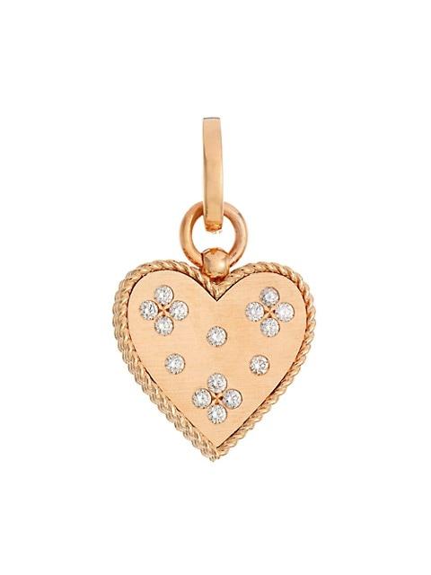 Venetian Princess 18K Rose Gold & Diamond Medium Heart Pendant