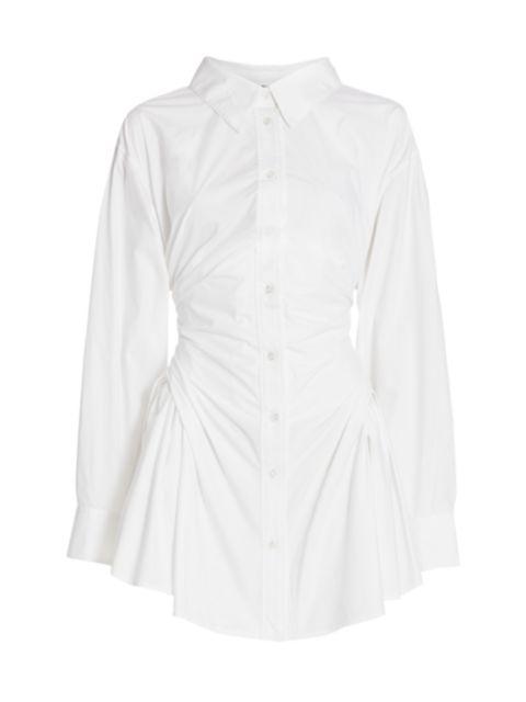 Alexanderwang.t Long-Sleeve Waist Gathered Shirtdress | SaksFifthAvenue