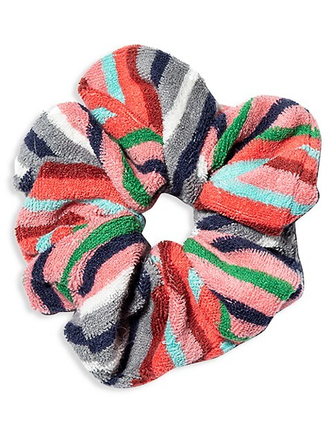 Striped Seersucker Oversized Scrunchie