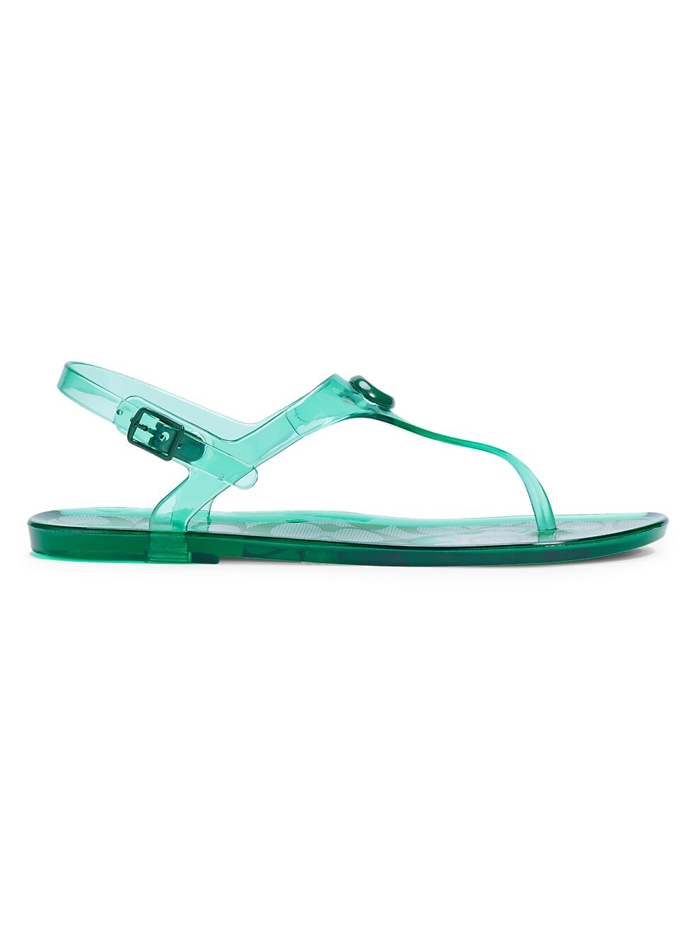 COACH Natalee Jelly Slingback Thong Sandals,GREEN