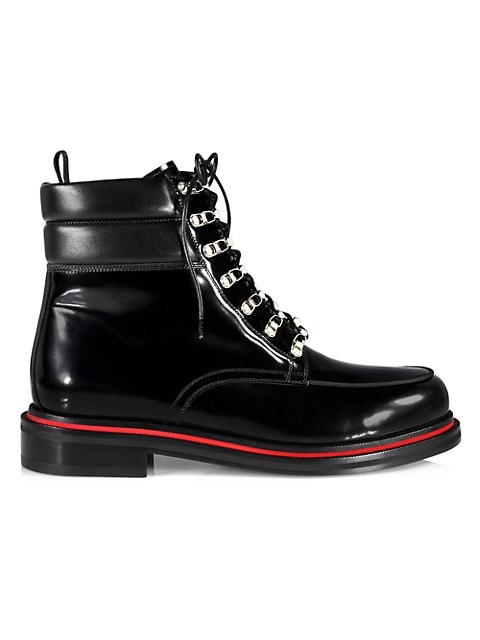 Alopista Patent Leather Combat Boots