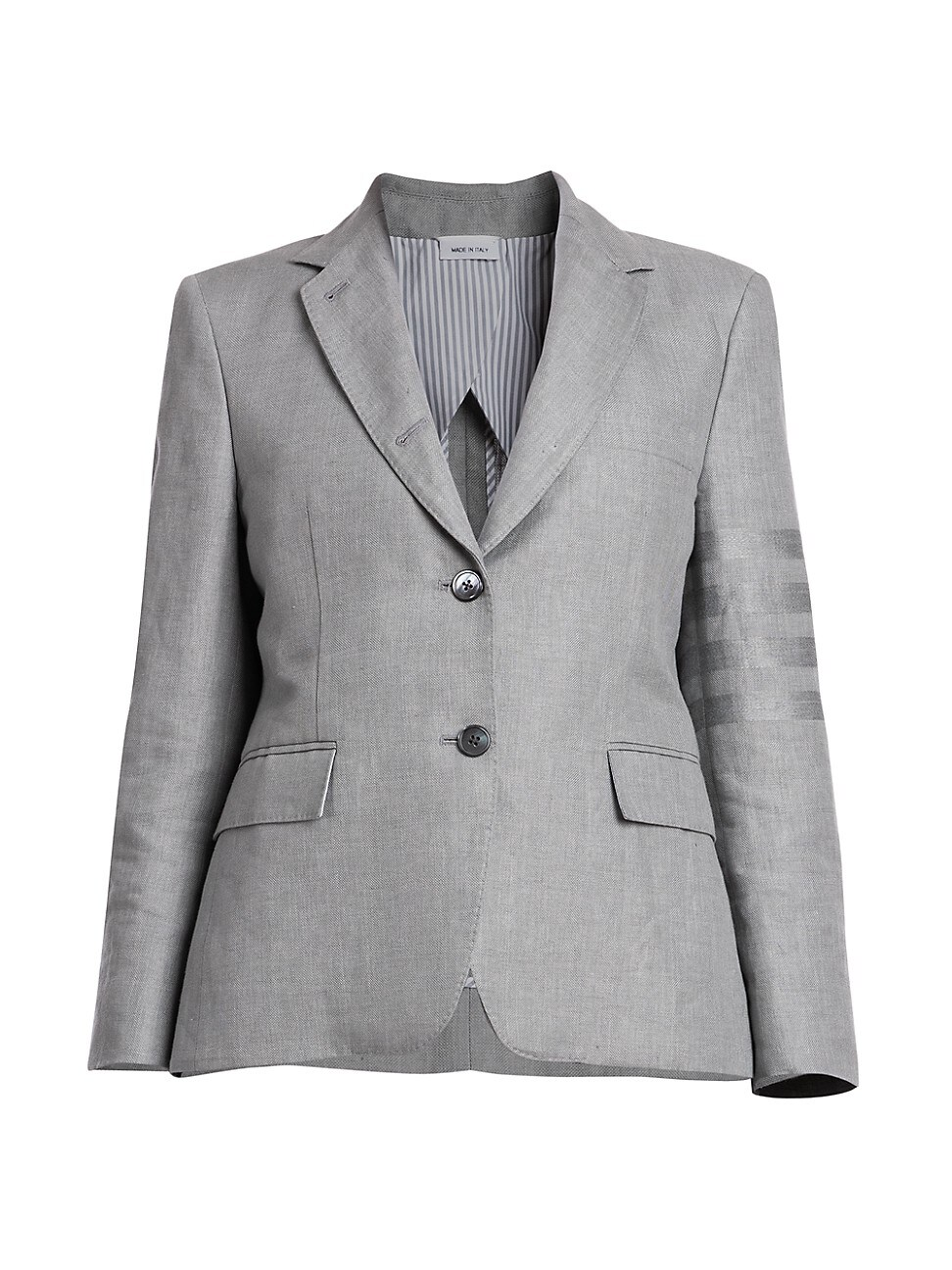 Thom Browne WOMEN'S CLASSIC 4 BAR LINEN SINGLE-BREASTED SPORTCOAT