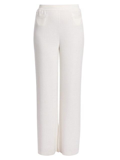 Porto Ercole Silk-Blend Knit Pants