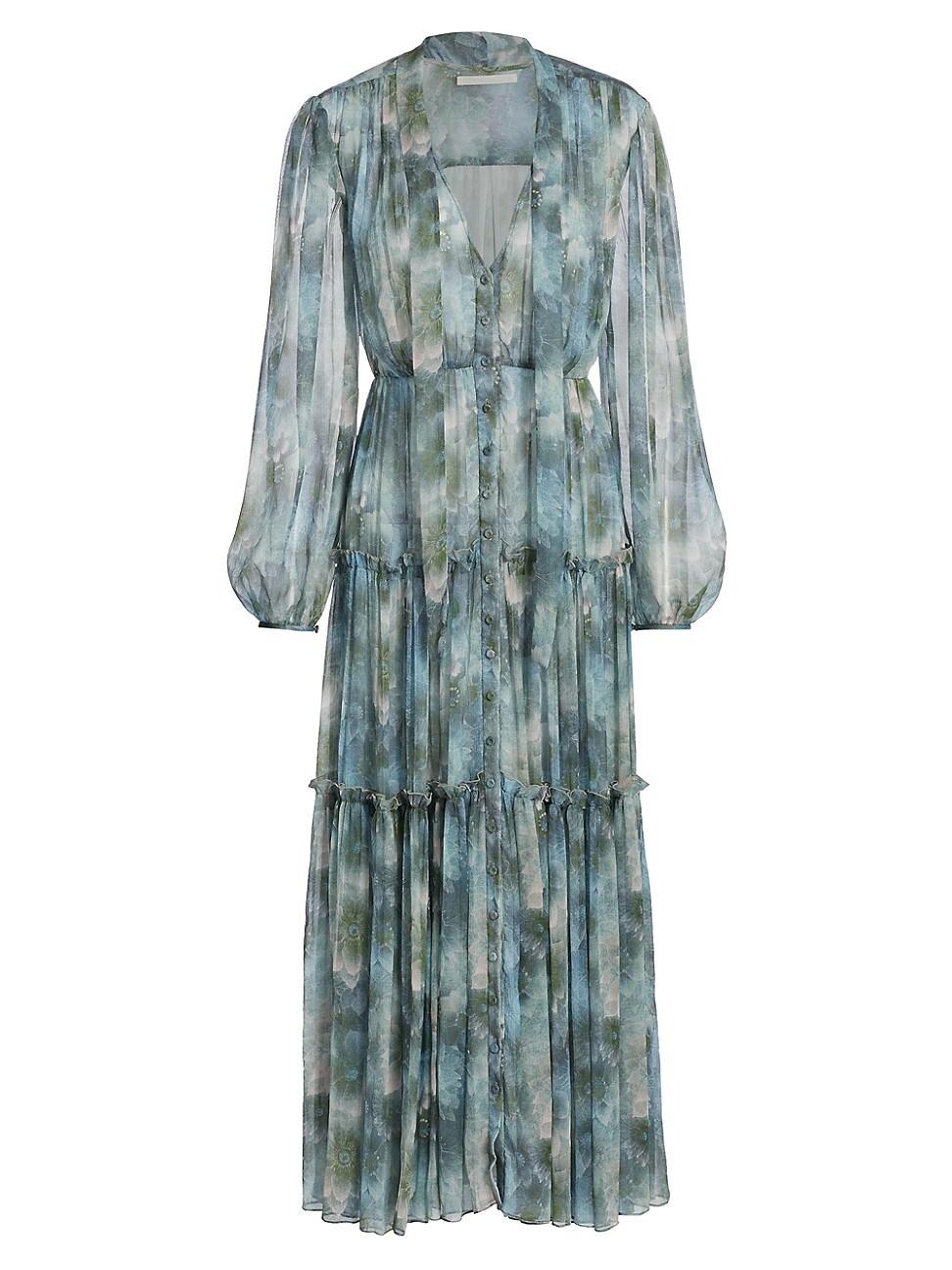 Jason Wu Collection WOMEN'S FIREFLY PRINTED CHIFFON DAY DRESS