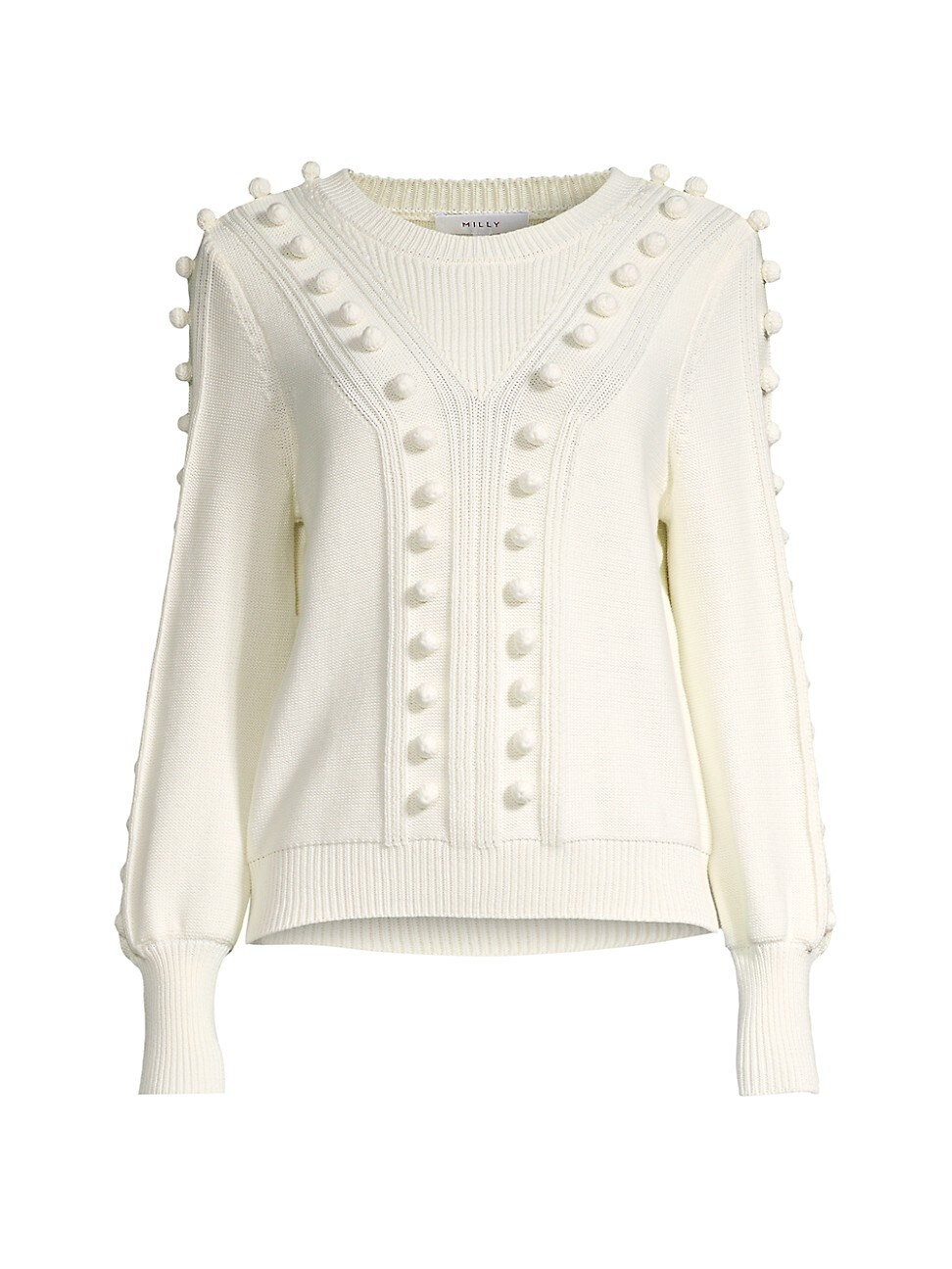 Milly WOMEN'S PLACED BOBBLE SWEATER