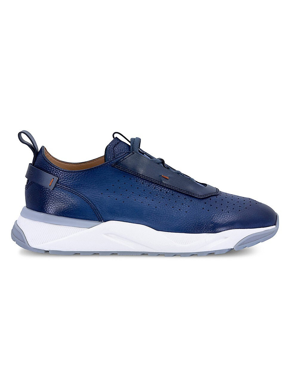 Santoni Leathers MEN'S LEATHER TRAINER SNEAKERS