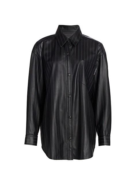 Oversized Leather Shirt