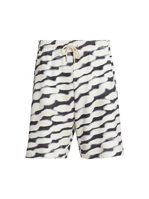 Habor Abstract Wave Drawstring Shorts