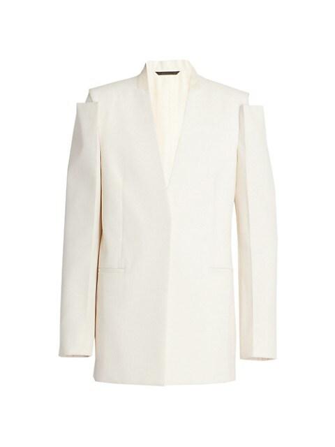Glove-Sleeve Tailored Jacket