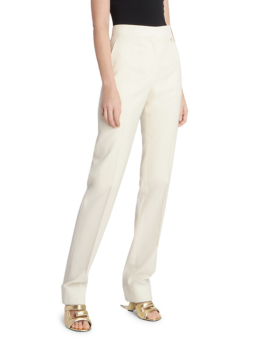 GIVENCHY Wools WOMEN'S HIGH-RISE TAPERED WOOL TROUSERS