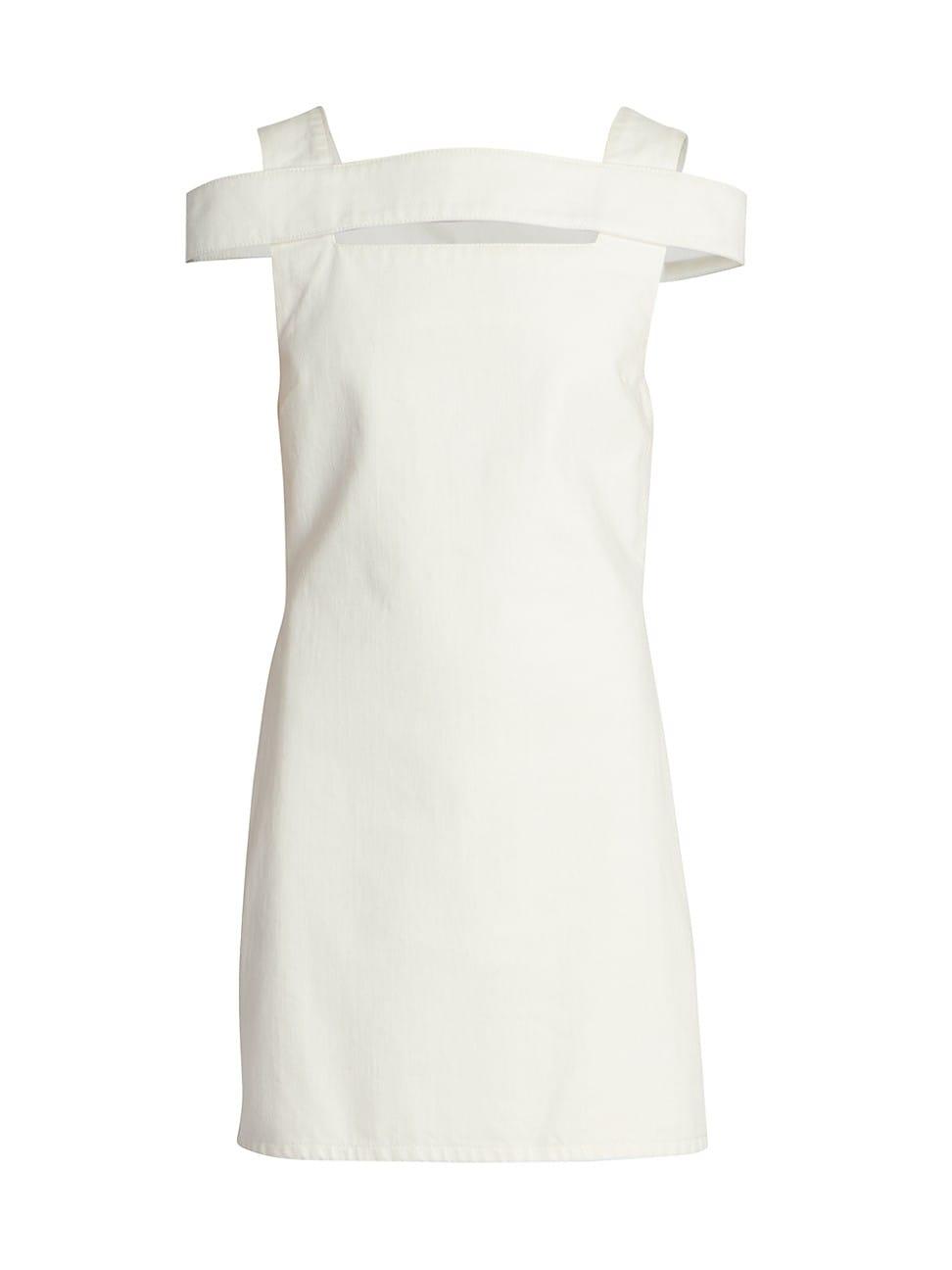 Givenchy Cottons WOMEN'S OPEN BACK SQUARENECK DENIM MINI DRESS