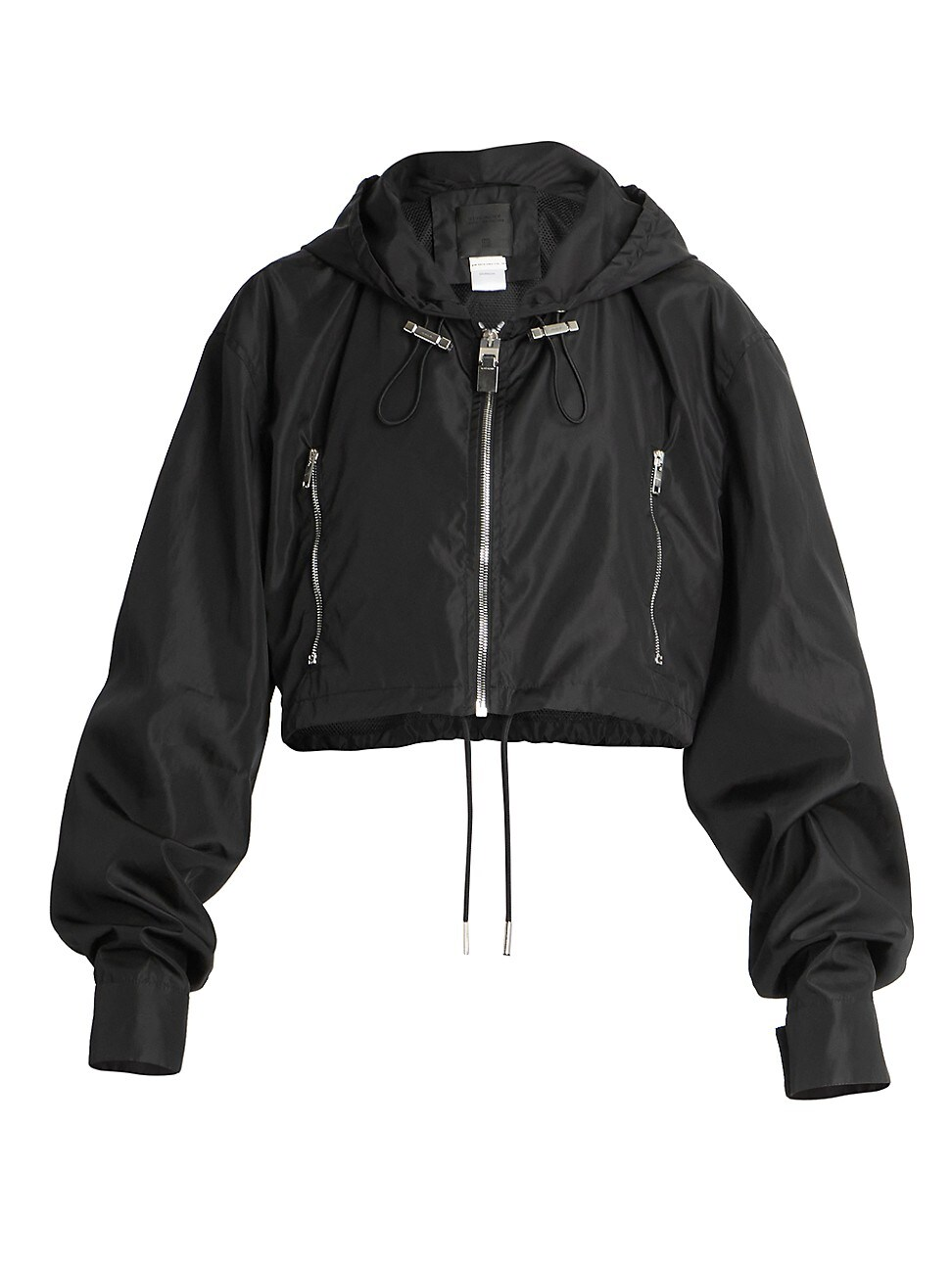 Givenchy Jackets WOMEN'S CROPPED LOGO WINDBREAKER