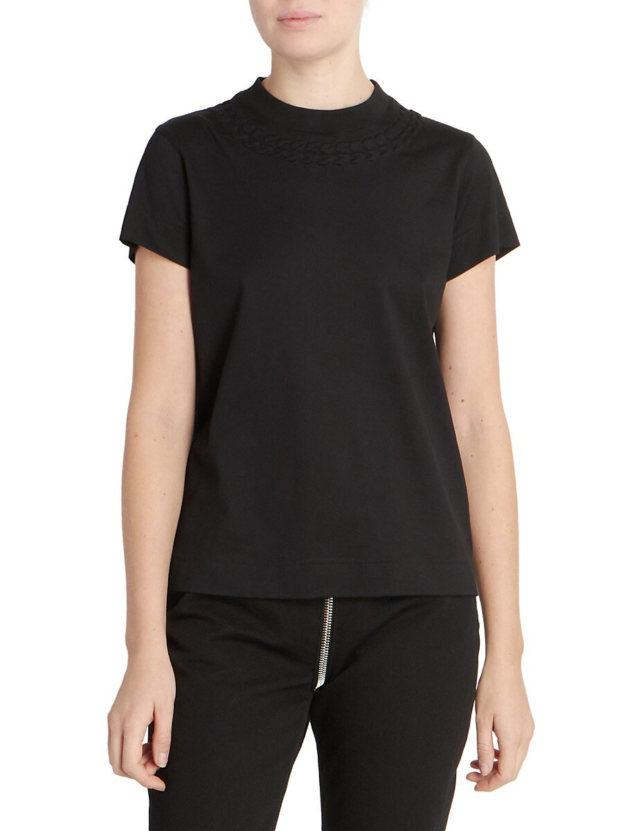 GIVENCHY Cottons WOMEN'S CHAIN-EMBOSSED FITTED T-SHIRT