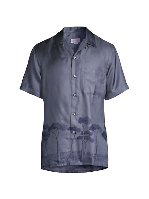Roman Trees Silk Sport Shirt