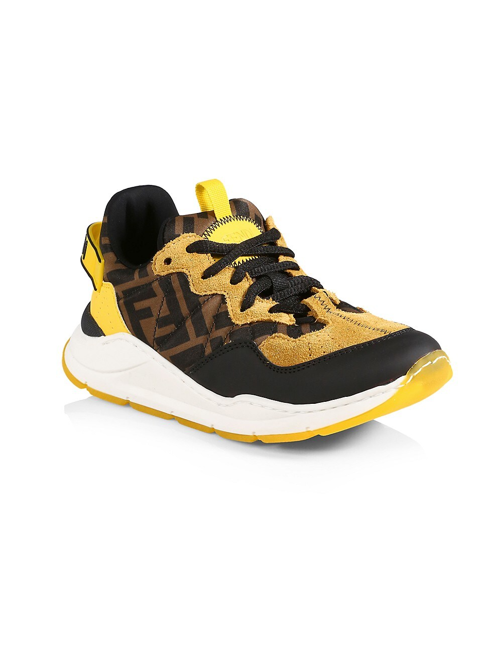 Fendi Suedes KID'S LOGO SNEAKERS