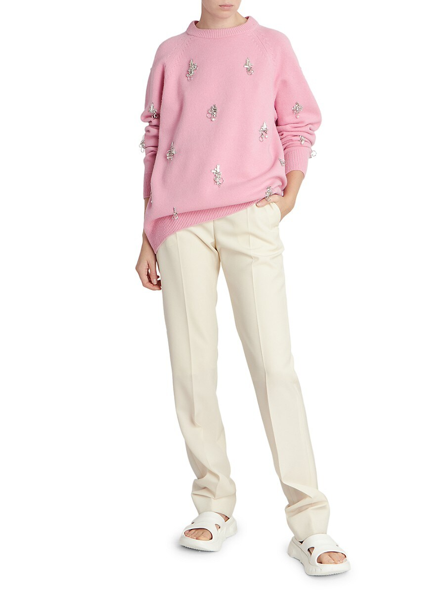 GIVENCHY Knits WOMEN'S EMBELLISHED WOOL & CASHMERE KNIT SWEATER
