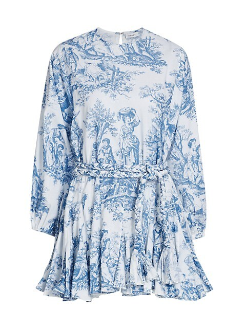 Ella Printed Belted Dress