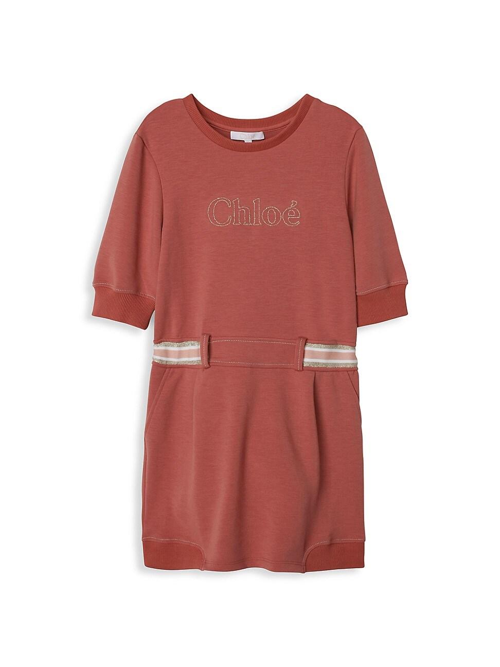 Chloé LITTLE GIRL'S & GIRL'S LOGO BRAID DRESS