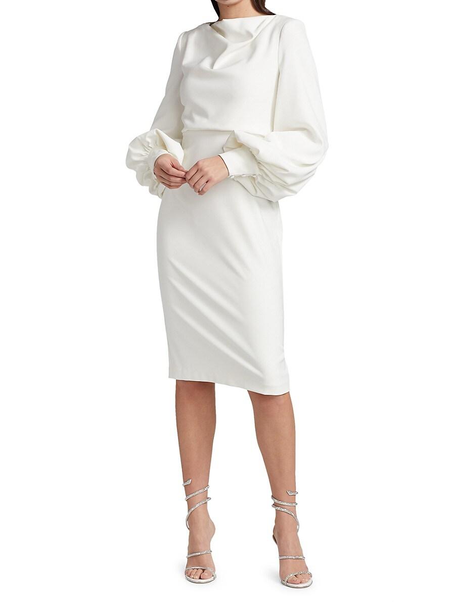 BADGLEY MISCHKA Dresses WOMEN'S ODESSA BALLOON-SLEEVE DRESS
