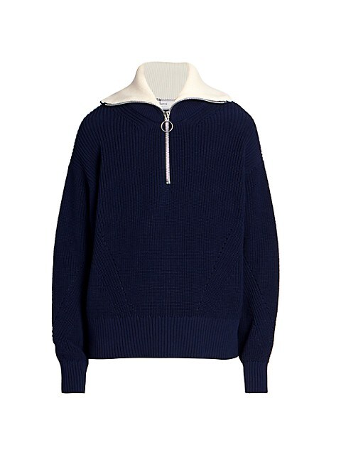 Trucker Pass Zip-Up Ribbed Sweater