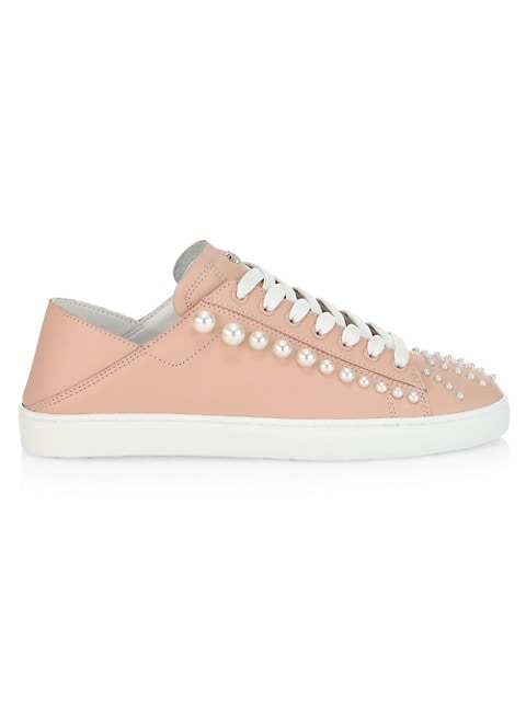 Goldie Convertible Embellished Leather Sneaker