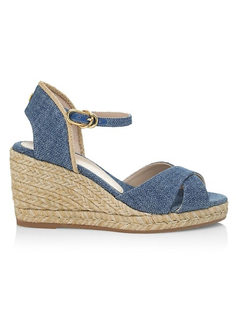 Mirela Denim Espadrille Wedge Sandals