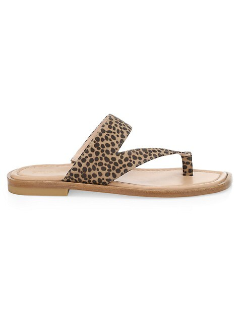 Lyla Leopard-Print Flat Sandals