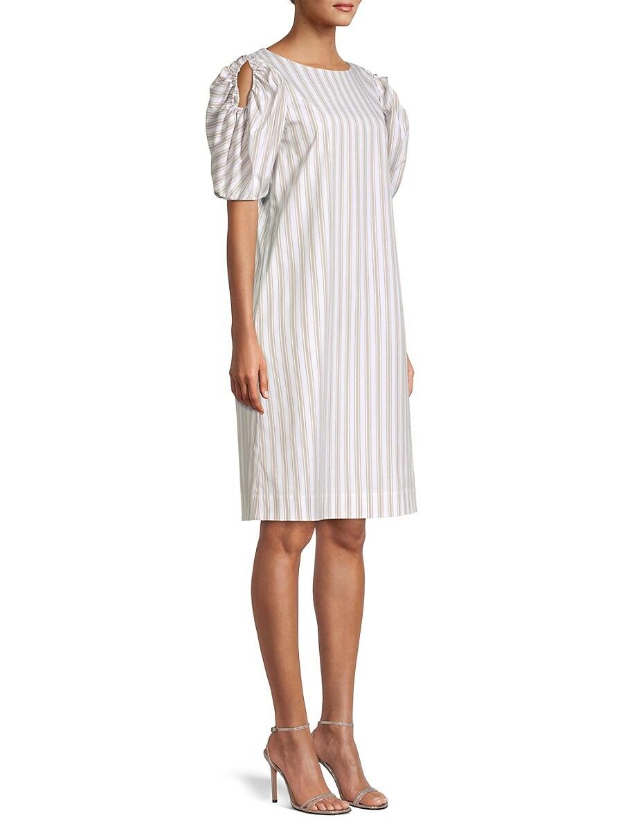 LAFAYETTE 148 Cottons WOMEN'S HATTIE PENCIL STRIPED DRESS