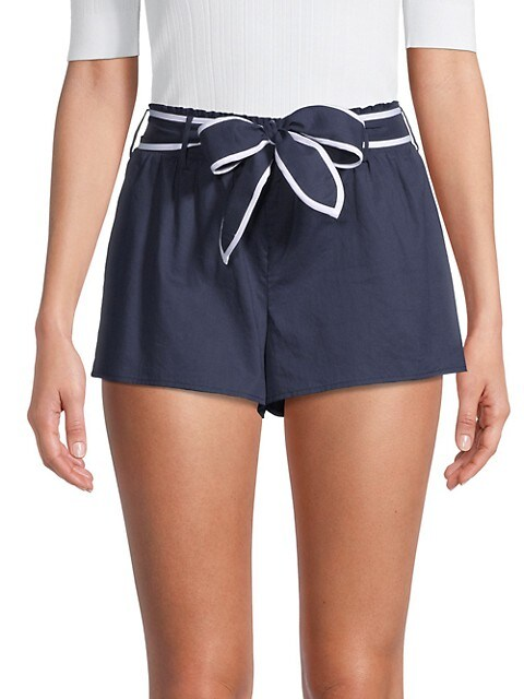 MICHAEL Michael Kors Obi Belted Cotton Shorts
