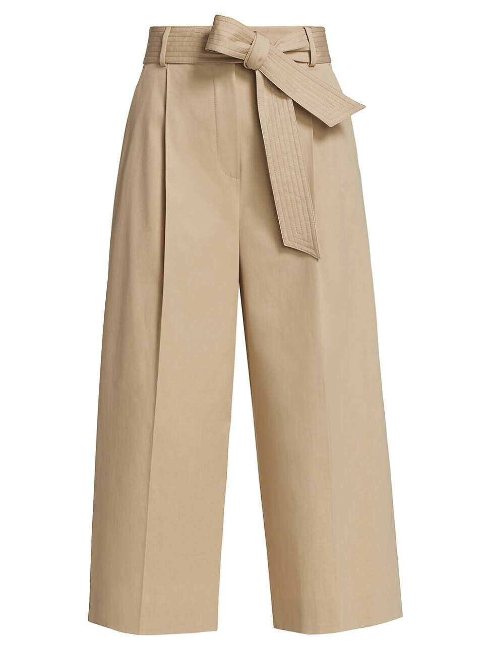 Max Mara Pants WOMEN'S GHISA WIDE-LEG CROPPED BELTED PANTS