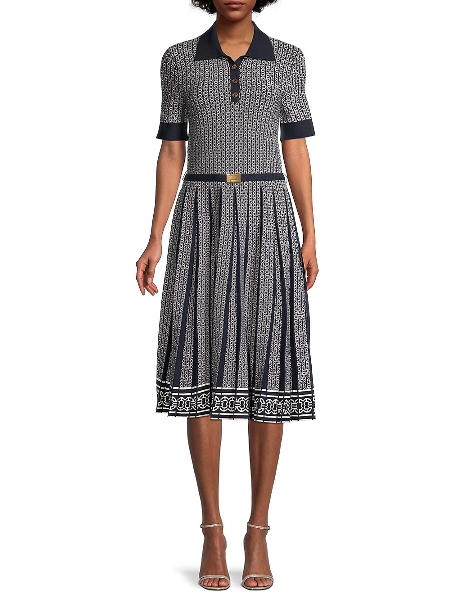 TORY BURCH Mini dresses WOMEN'S GEMINI LINK JACQUARD DRESS