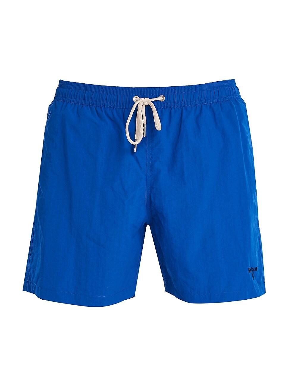 Barbour Essential Logo 7 Inch Swim Short In Bright Blue