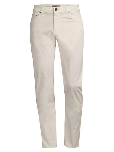 Five-Pocket Cotton Stretch Pants