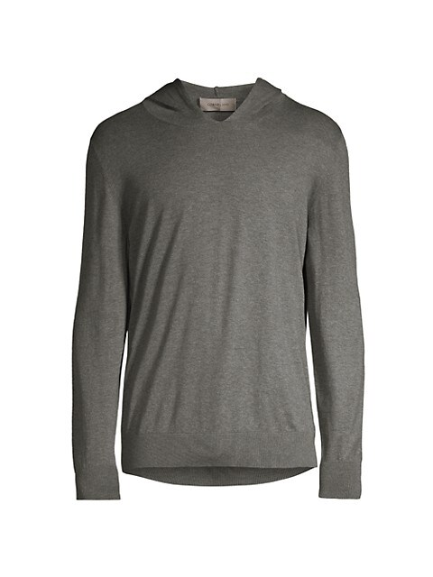 Sleek Simple Cashmere-Cotton Hoodie