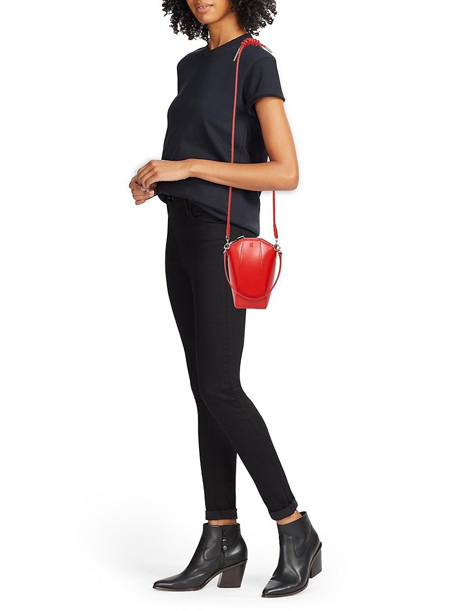 GIVENCHY Leathers WOMEN'S MINI ANTIGONA VERTICAL LEATHER CROSSBODY BAG