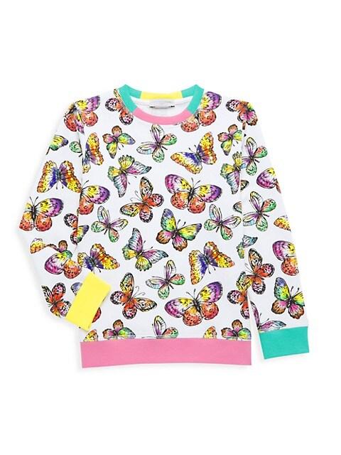 Little Girl's & Girl's Butterflies Sweatshirt