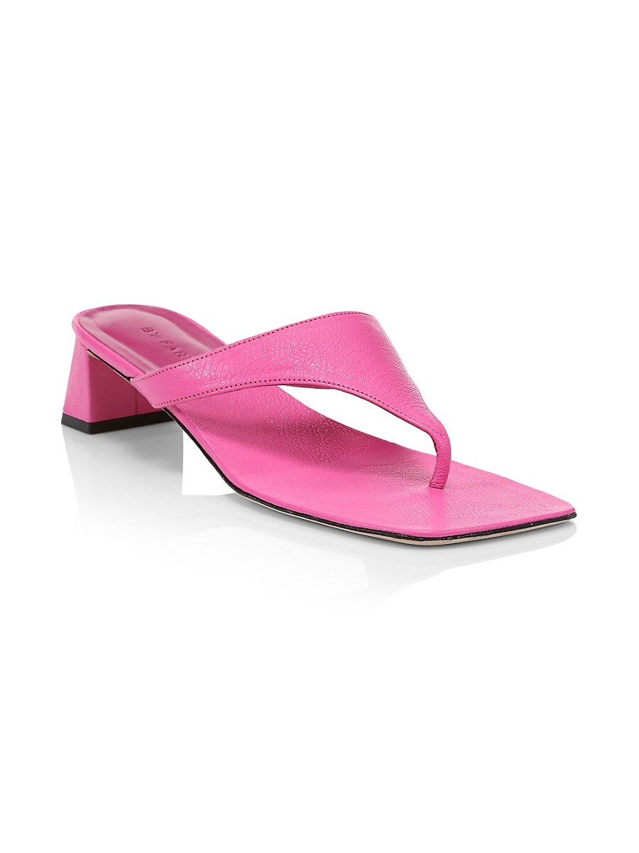 BY FAR Leathers WOMEN'S SHAWN LEATHER THONG SANDALS