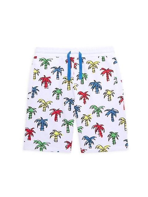Little Boy's & Boy's Palm Tree Printed Sweatshorts