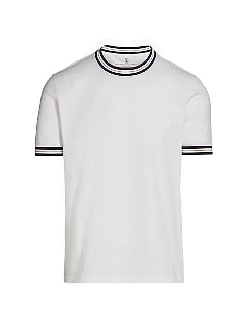 Tipped Cotton T-Shirt