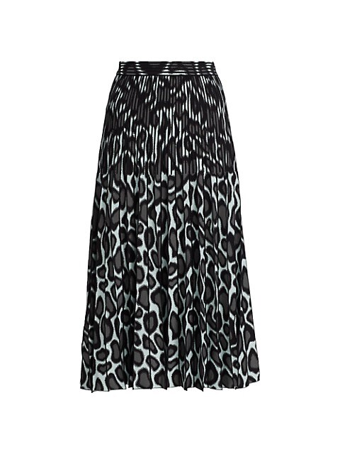 Abstract Spotted Pleated Knit Skirt