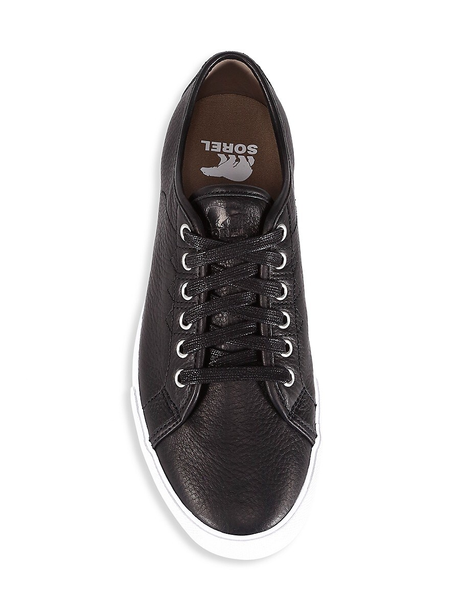 SOREL Leathers MEN'S CARIBOU LACE-UP LEATHER SNEAKERS