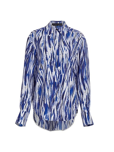 Painterly Stripe Marocaine Button-Down Shirt