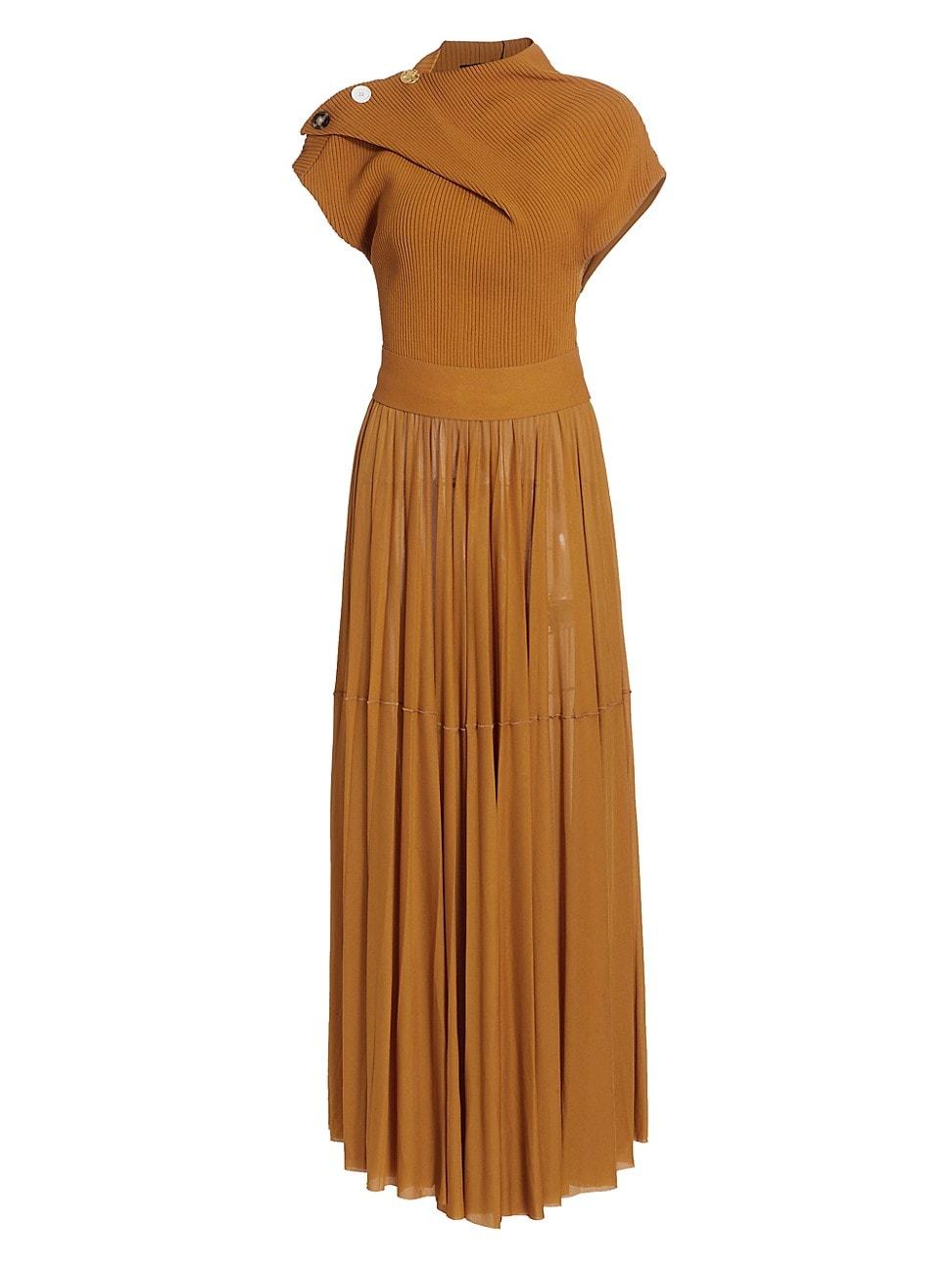 Proenza Schouler WOMEN'S GAUZY JERSEY DRAPED DRESS