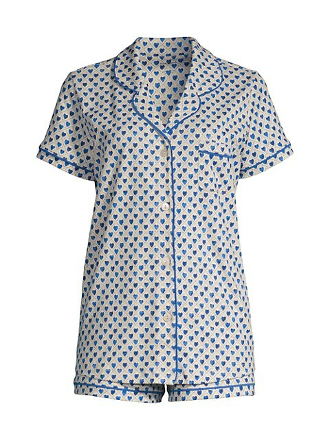 Quilted Hearts Two-Piece Cotton Pajama Set