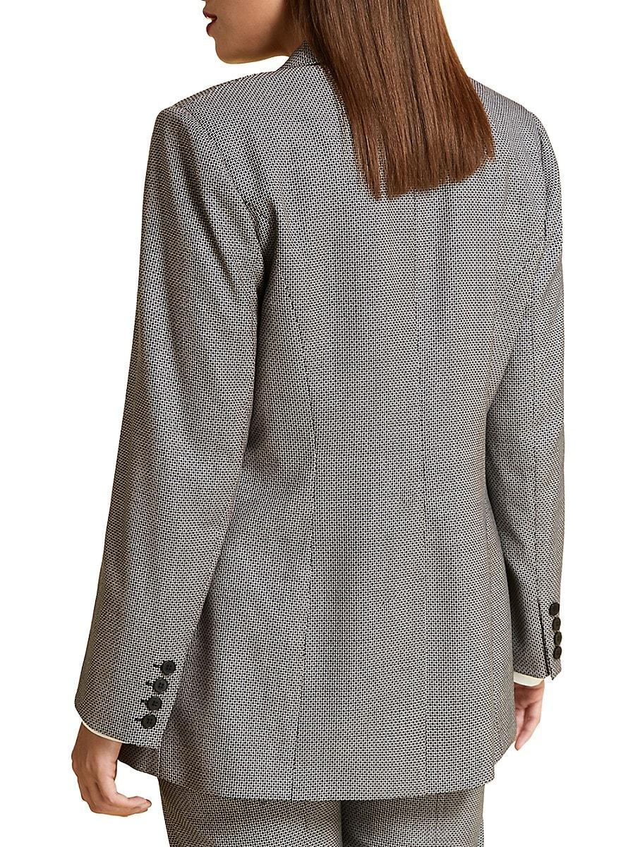 MARINA RINALDI Wools WOMEN'S VIRGIN WOOL-BLEND TAILORED JACKET