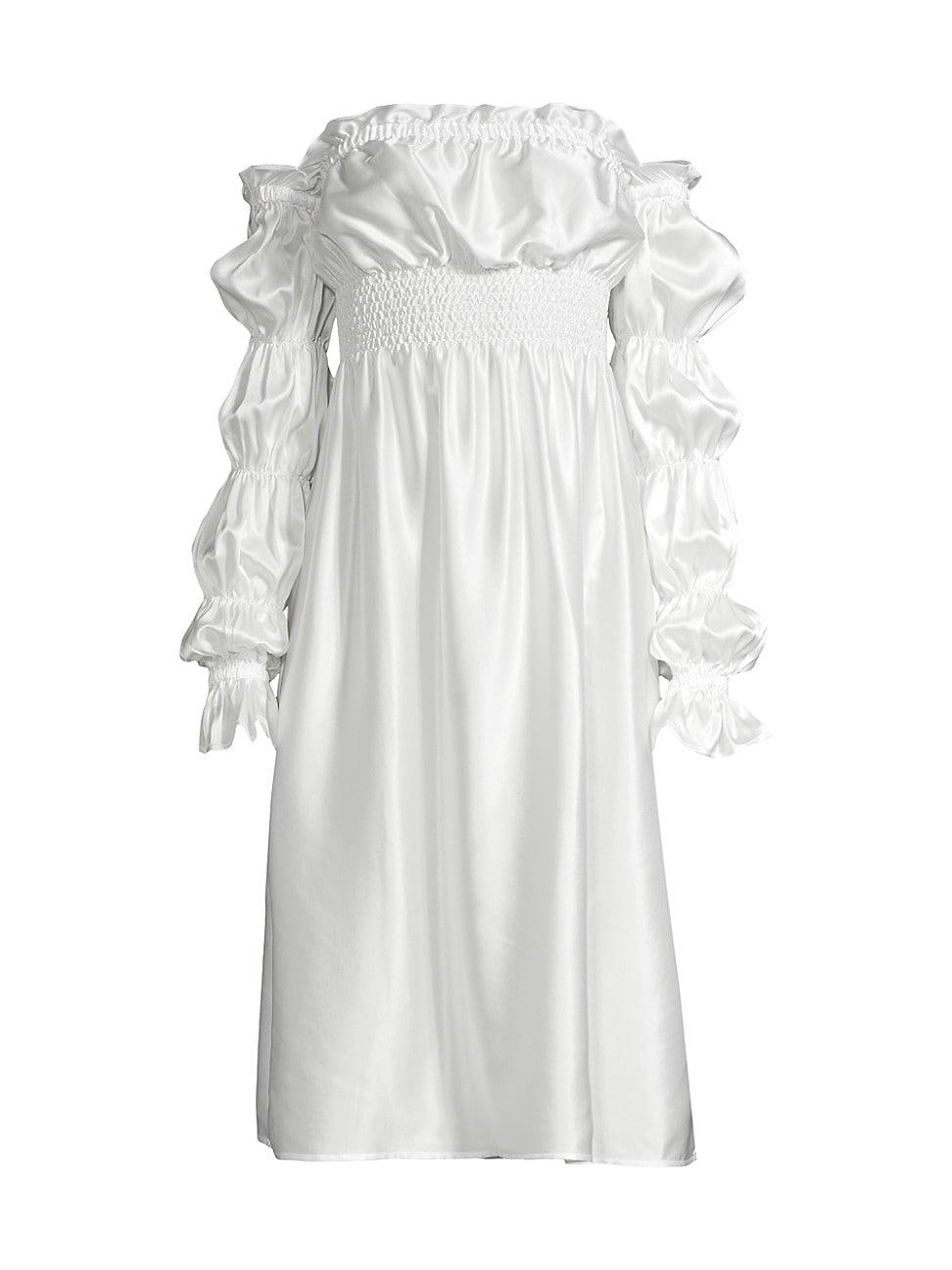 Sleeper WOMEN'S MICHELIN OFF-THE-SHOULDER SILK DRESS