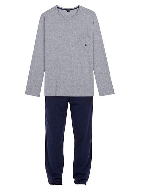 2-Piece Long-Sleeve Top & Pants Pajama Set